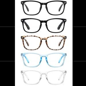 5 Pk • Blue Light Blocking Reading Glasses • 2.5x